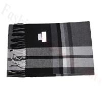 Cashmere Feel Pattern Scarf Black/Grey