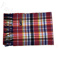 Cashmere Feel Pattern Scarf Red
