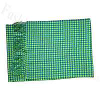 Cashmere Feel Design Scarf Green
