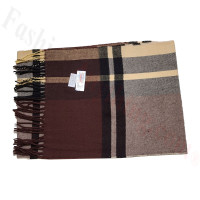 Cashmere Feel Pattern Scarf 47549 Brown