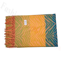 Cashmere Feel Design Scarf Orange