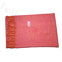 Cashmere Feel Leopard Scarf Pink