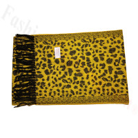 Cashmere Feel Leopard Scarf Yellow