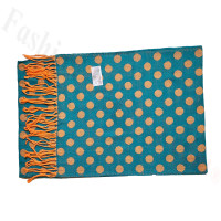 Cashmere Feel Dot Scarf Teal