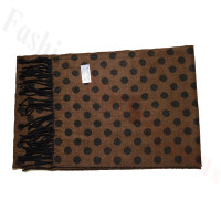 Cashmere Feel Dot Scarf Brown