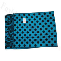 Cashmere Feel Dot Scarf Blue