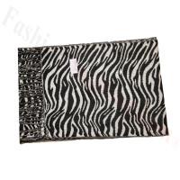 Cashmere Feel Zebra Scarf Black/White