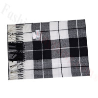 Cashmere Feel Pattern Scarf 60122 Black/White