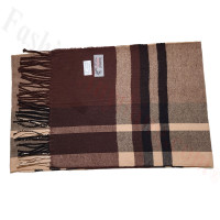 Cashmere Feel Pattern Scarf 750 Brown