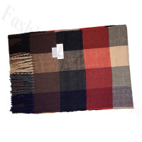 Cashmere Feel Pattern Scarf Red/Brown