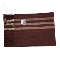 Cashmere Feel Pattern Scarf 90129 Brown