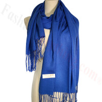 Lightweight Pashmina Scarf Royal Blue