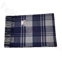 Cashmere Feel Pattern Scarf 98-1 Navy/Grey
