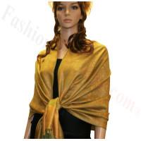 Paisley Jacquard Pashmina Gold