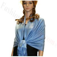 Paisley Jacquard Pashmina Bright Blue