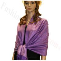 Paisley Jacquard Pashmina Light Purple