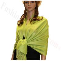 Paisley Jacquard Pashmina Bright Green