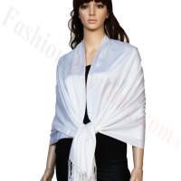 Luxury Pashmina Wrap Pearl White