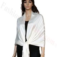Luxury Pashmina Wrap Ivory