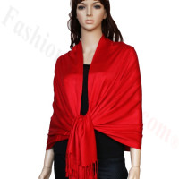 Luxury Pashmina Wrap Red