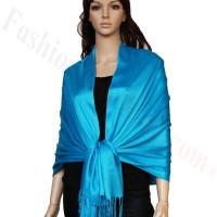 Luxury Pashmina Wrap Blue