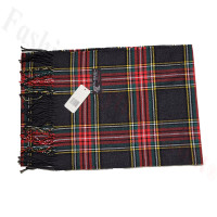 Cashmere Feel Pattern Scarf C131 Grey/Red