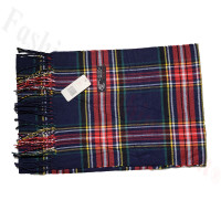 Cashmere Feel Pattern Scarf C131 Navy