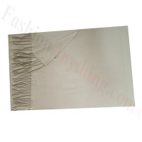 Cashmere Feel Solid Scarf Taupe