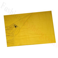 Cashmere Feel Solid Scarf Mustard
