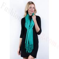 Silky Soft Solid Pashmina Scarf Light Sea Green