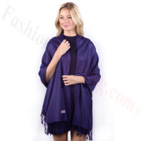 Eggplant Solid Pashmina Label Scarf