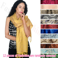 Circle Design Pashmina 1 DZ, Asst. Color