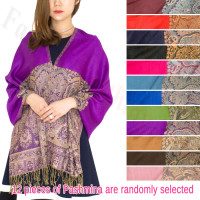 Luxury 2ply Pasiley Pashmina 1 DZ, Asst. Color