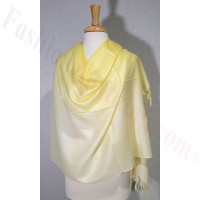 Ombre Solid Pashmina Yellow