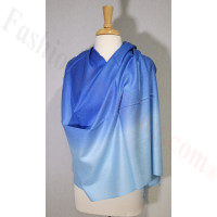 Ombre Solid Pashmina Royal Blue