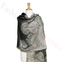 Phoenix Tail Thicker Label Pashmina Black
