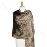 Phoenix Tail Thicker Label Pashmina Coffee