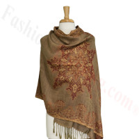 Gorgeous border Pashmina Label N09