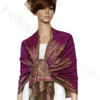 Big Paisley Thicker Pashmina Magenta