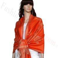 Rose & Leaf Pashmina Orange