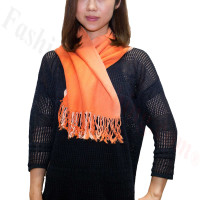 Ombre Solid Print Scarf Orange