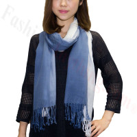 Ombre Solid Print Scarf Blue/Baby Blue