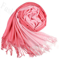 Ombre Solid Print Scarf Carnation Pink/ Pink Plush