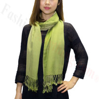 Ombre Solid Print Scarf Green