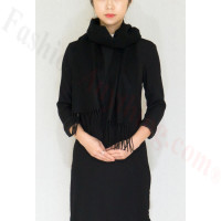 Winter Cashmere Feel Scarf Black