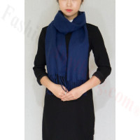 Winter Cashmere Feel Scarf Navy Blue