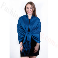Silky Soft Solid Pashmina Scarf Ultramarine