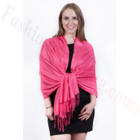 Silky Soft Solid Pashmina Scarf Hot Pink