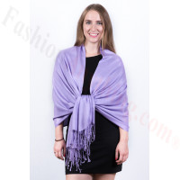 Silky Soft Solid Pashmina Scarf Lavender