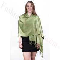 Yellow Green Solid Pashmina Scarf